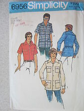 VINTAGE Simplicity Sewing Pattern 6956 Teen Boys' Men's Shirt w/Patch Pockets 40