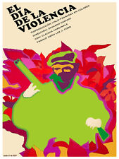 Dia de la violencia Violence day Decor Poster.Graphic Art Interior design. 3756