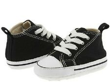 Crib Converse All Star First Star 8J231 Black Canvas 100% Authentic Brand New