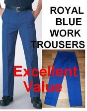 Royal blue poly/cotton drivers/work trousers Sewn in crease Brand new. TR10