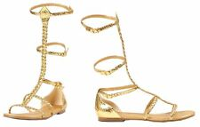 ROMAN GLADIATOR HISTORICAL SANDAL Gold Goddess Medievel Sexy Shoes Theme Party