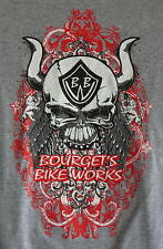 Bourget's Bike Works Skull with Horns Short Sleeve in Gray