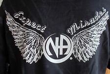 "NARCOTICS ANONYMOUS RECOVERY T-SHIRT ""EXPECT MIRACLES"" DISTRESSED LOOK"