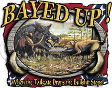 Dixie Tshirt: Bayed Up Boar Hunting Hunter Southern Rebel Wild Hog Squeal