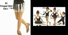 Music Music Music Dance Costume Fringed Skirt Only Jazz Tap Hip Hop Dancewear
