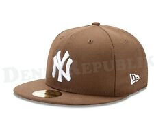 New Era 59FIFTY NEW YORK YANKEES -Walnut Cap MLB Baseball Fitted Brown Hat
