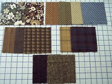 """FLANNEL 100% quality cotton fabric Timeless Treasures earth tones 1 yd x 44""""w"""