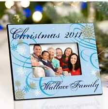 PERSONALIZED HOLIDAY CHRISTMAS PHOTO FRAMES 7 DESIGN CHOICES! CUSTOM 4x6