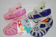 NWT CROCS SHIRLEY GIRLS CHAMELEONS 9 10 11 12 13 1 2 SHOES SANDALS color change