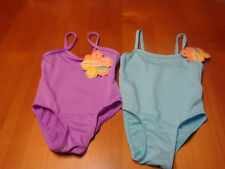 TODDLER GIRLS MAX GREY  ONE PIECE POLYESTER SWIMSUIT  SIZE 18-24 MONTHS  NWT