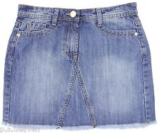 NEW SIZE 8 FREYED MINI SKIRT/ BLUE DENIM WASH