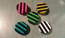 New Acrylic   Double Flared  Solid Stripes  Plugs in New Colors  ( 2 g To 1inch)