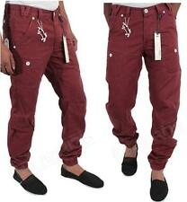 NEW MENS ETO EM275 LATEST DESIGN IN RED COLOUR CUFFED CHINO LEG JEANS