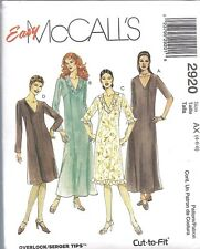 UNCUT McCalls Sewing Pattern Misses Semi Fitted Dress 2920 VTG NEW OOP SEW FF