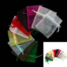 New 12/25/50/100 PCS polyester Bags/Jewlery Gift Pouch 10x7.5cm Optional Color