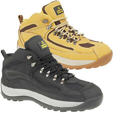 AMBLERS MENS SAFETY WORK STEEL TOE CAP SHOES TRAINERS BOOTS SIZE 4-12UK BLACK