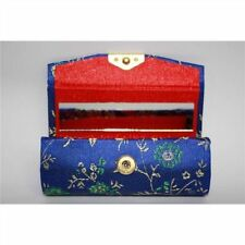 NEW Ladies, Womens Silk Brocade Lipstick Holder case WITH MIRROR Makeup Lippy