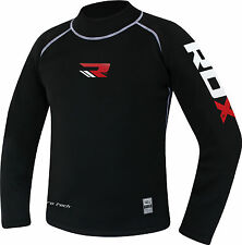 RDX Fight Me Neoprene Sweat Shirt Rash Guard Sauna Suit Weight Loss Top MMA Men