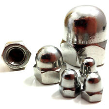 M10 (10mm) A2 STAINLESS STEEL DOME NUTS - DIN 1587 - METRIC THREAD - QUAD, BIKE