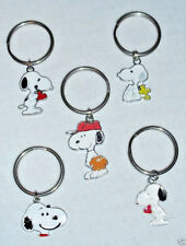 Snoopy Key Rings with Red Hearts,Woodstock,Baseball or Head with Red Handcrafted