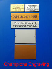 Engraved Memorial Plaques - Choice of Colours & Sizes - *FREE P&P & ENGRAVING*