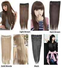 1x Long Straight Clip on Hair Extension Single Hairpiece 65 x 20cm in Style UK