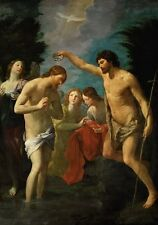 Baptism Christ Guido Reni 1623-Art Photo/Poster Repro Print Many Sizes  A0/8