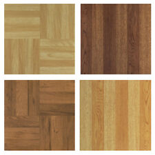 "OAK birch Plank wood PARQUET self STICK adhesive VINYL floor TILE -40 pc 12""x12"""