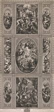 From Painting Ceiling Banqueting House At White Hall Year 1720 Simon Gribelin 17