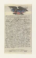 Fac Similes Signatures Declaration Independence American Silk Label Manufacturin