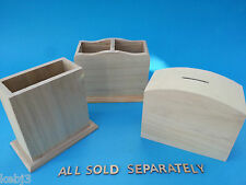 Wooden TREASURE CHEST Money Box to decorate + more cat pig house bear castle etc