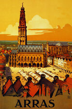 Arras scenery travel Decoration Poster. Fine Graphic Art Design. 3098