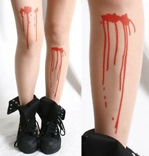 Halloween Horror Makeup Costume Punk Wound Bleed TrueBlood Nude Pantyhose Tights
