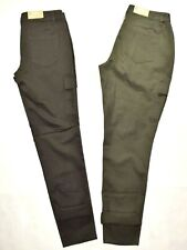 NWT MOSSIMO Stretch SKINNY Cargo Pants Women Sz Utility Ankle Green Gray Fit 3 4
