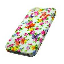 Colourful Pink Flower Silicone Gel Phone Case Cover For Various Mobile Phones