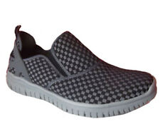 Mens Shoes Casual Slip On Walking Shoe Size 7-12 UK Black/Grey New
