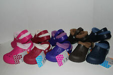 NWT CROCS BAYA LINED KIDS BROWN BLUE PINK PURPLE 6/7 8/9 10/11 12/13 CLOGS shoes