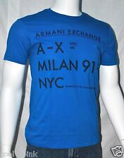 New Armani Exchange A|X Mens Slim/Muscle Fit Graphic Crew Neck Shirt