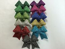 Silver, Black Silver, Green, Purple, Red, Hot Pink Keychain Bow Ribbon - Cheer