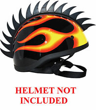 Helmet Blade Black Rubber Saw Style Mohawks PC Racing All Colors Mohawk