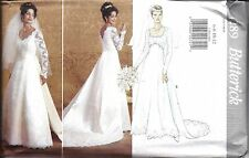 UNCUT Vintage Butterick Sewing Pattern Wedding Bridal Gown Dress Train 4289 OOP