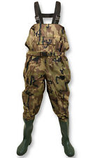 CAMO NYLON CHEST WADERS WITH BELT - SIZES 6 - 12 WATERPROOF FLY COARSE FISHING