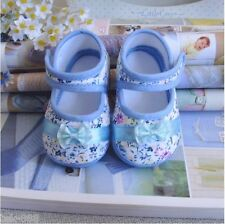 Blue baby Girl shoe Warm bowknot Cotton cloth shoes Soft bottom fit 3-14 month