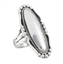 Elongated Victorian Sterling Silver Ring Size 6-10