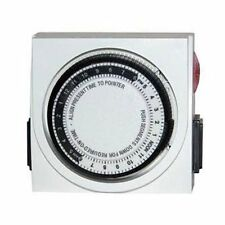 Analog Timer Dual Outlet - 24 hour grounded lamp light appliance hydroponics