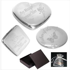 Engraved Handbag Compact Mirror Mama Mother  Personalised Mothers Day Gift C1