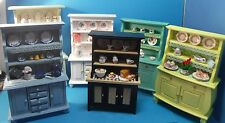 12th scale dolls house handmade kitchen dresser dressed 6 colours to choose