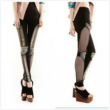 NEW Women's Sexy Glitter Lace  Fitted Legwear Stretchy Pants Skinny Leggings