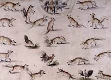 Photo Print Study for a wall decoration with foxes and chickens Cranach, Lucas T