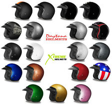 Daytona Cruiser 3/4 Open Face Helmet DOT 2XS XS S M L XL 2XL 3XL 4XL Fast Ship!